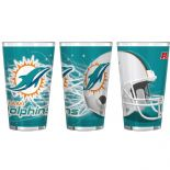 Miami Dolphins 16-Ounce Pint Glass